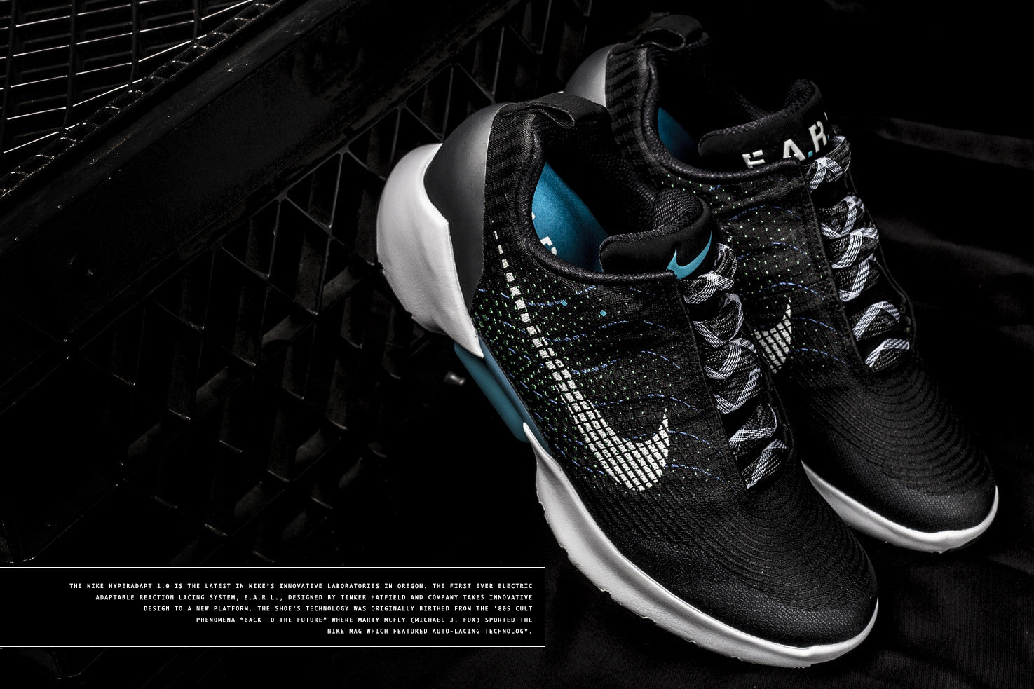 ... the laces to adjust to a desirable fit. The battery illuminates inside  the midsole which gives it the futuristic aesthetic. Here's some detailed  shots ...