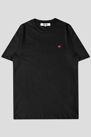 COMME DES GARCONS PLAY SS TSHIRT BLACK RED