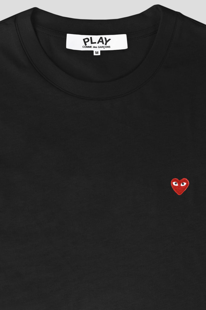 COMME DES GARCONS PLAY SS TSHIRT BLACK RED - BLENDS