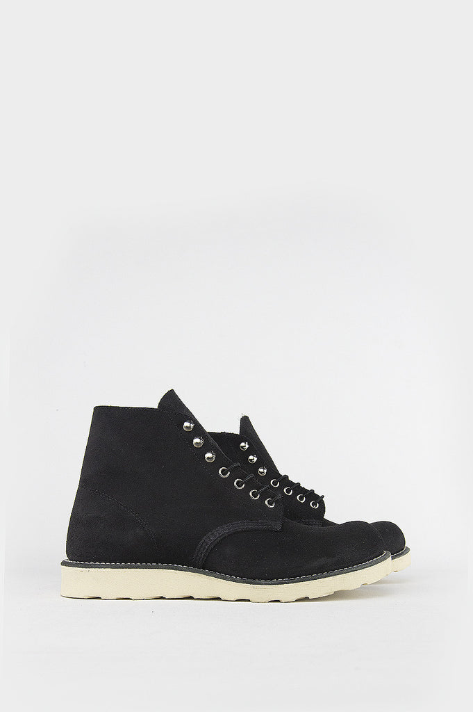 "BLENDS X RED WING 6"" ROUND TOE BLACK SUEDE - BLENDS"