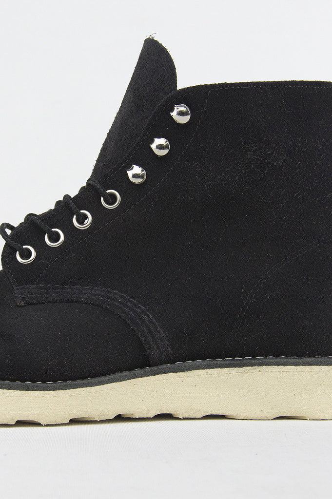 "BLENDS X RED WING 6"" ROUND TOE BLACK SUEDE"