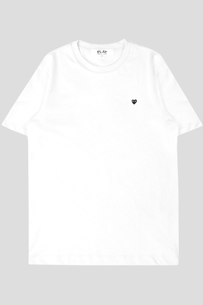 COMME DES GARCONS PLAY SS TSHIRT WHITE BLACK - BLENDS