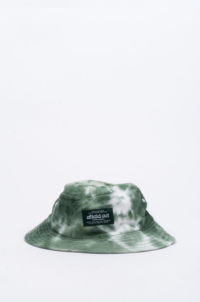 AFIELD OUT TIE DYE BUCKET HAT GREEN - BLENDS
