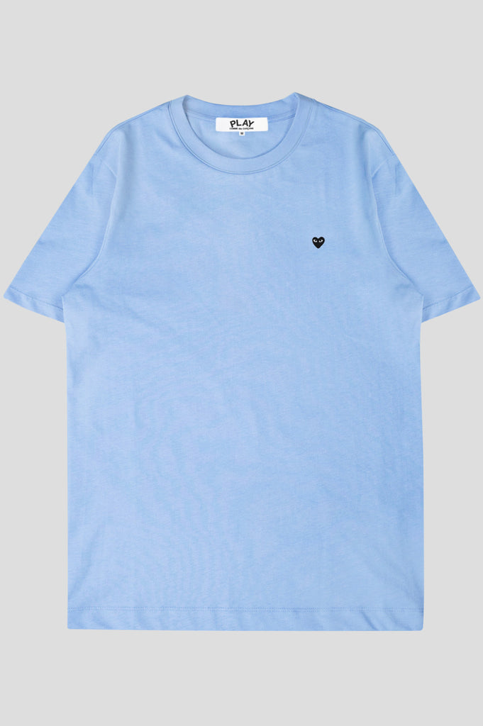 COMME DES GARCONS PLAY SS TSHIRT BLUE BLACK