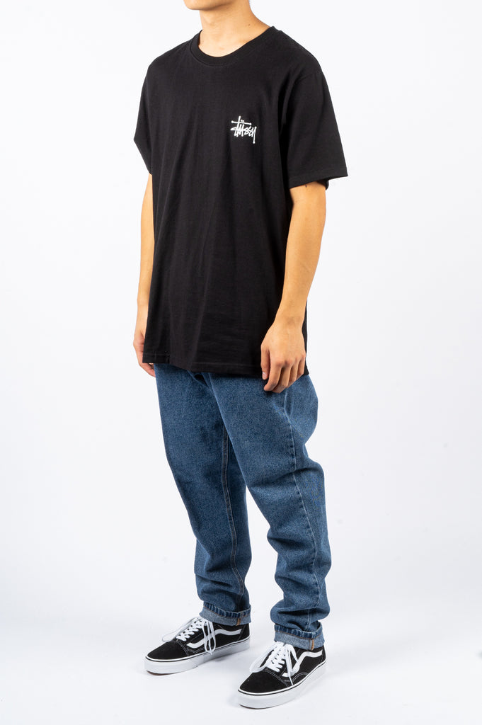 STUSSY BASIC TEE BLACK - BLENDS