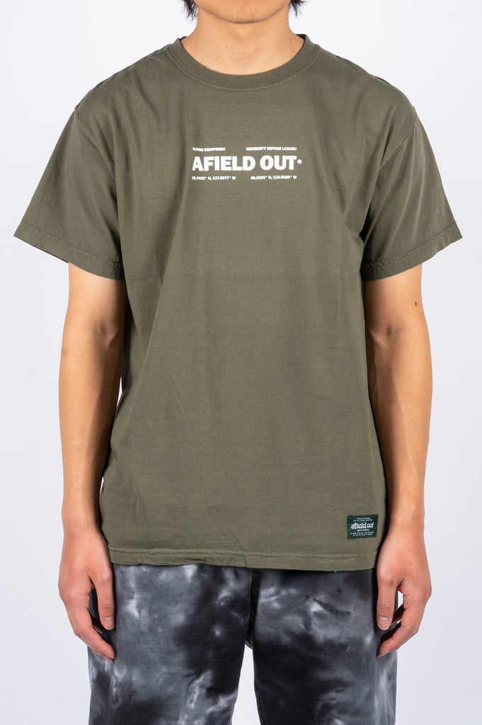 AFIELD OUT THREE PEAKS T-SHIRT SAGE - BLENDS
