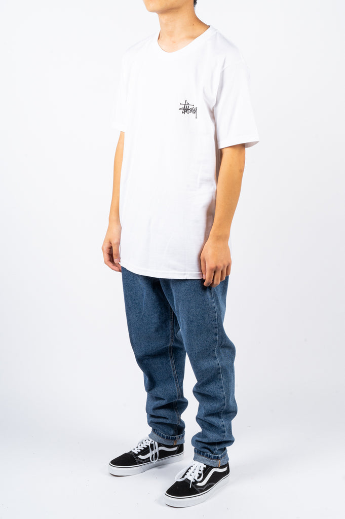 STUSSY BASIC TEE WHITE - BLENDS