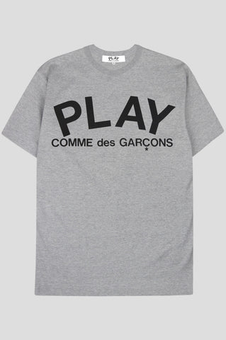 COMME DES GARCONS PLAY SS TSHIRT GREY BLACK