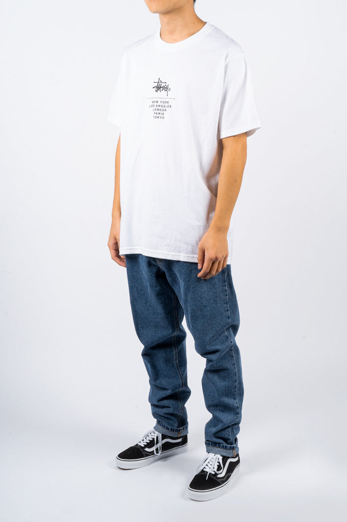 STUSSY CITY STACK TEE WHITE - BLENDS