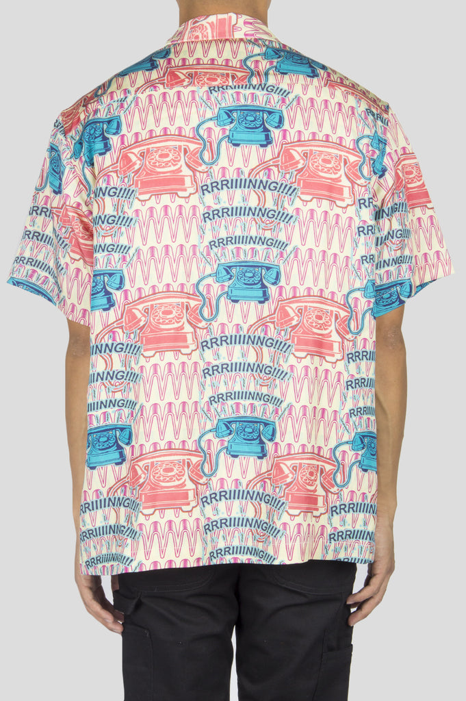 BRAIN DEAD RING RING RAYON TWILL SHIRT - BLENDS