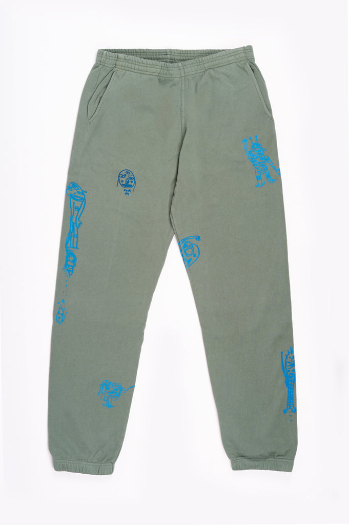 BRAIN DEAD P&TY SWEATPANT GREEN