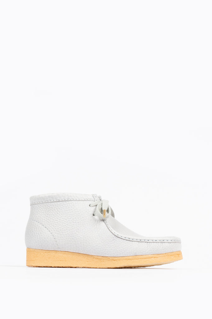 CLARKS X SPORTY & RICH WALLABEE BOOT EGG BLUE LEATHER