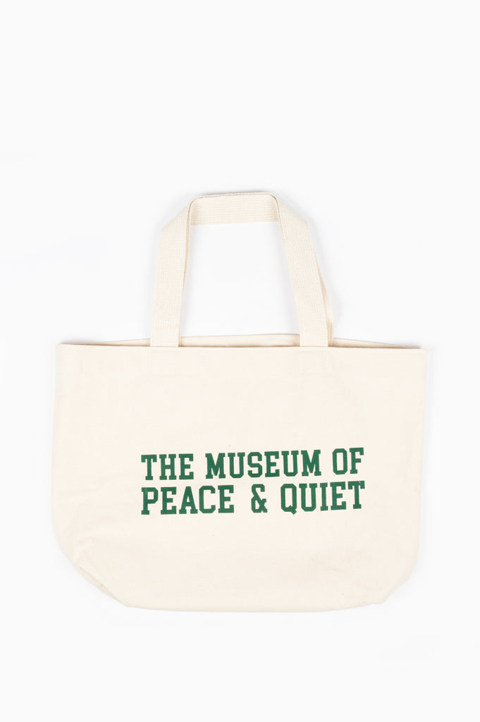 THE MUSEUM OF PEACE AND QUIET CAMPUS TOTE BAG CANVAS