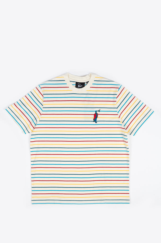 PARRA STARING STRIPED T-SHIRT MULTI