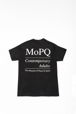THE MUSEUM OF PEACE AND QUIET MOPQ TSHIRT BLACK