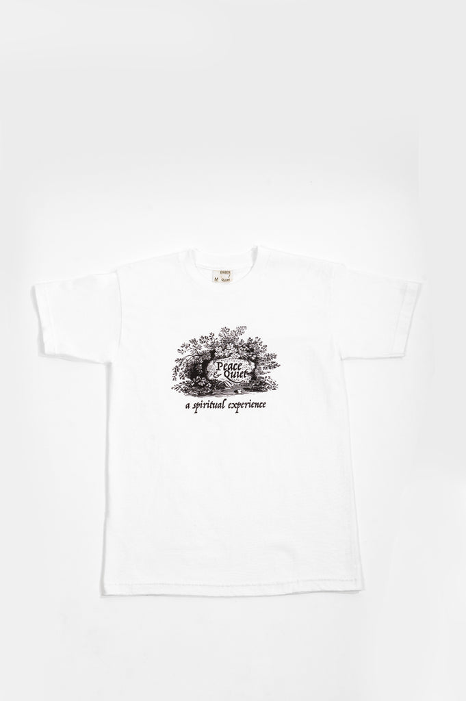 THE MUSEUM OF PEACE AND QUIET SPIRITUAL EXPERIENCE TSHIRT WHITE