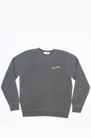 THE MUSEUM OF PEACE AND QUIET WORDMARK CREWNECK CHARCOAL