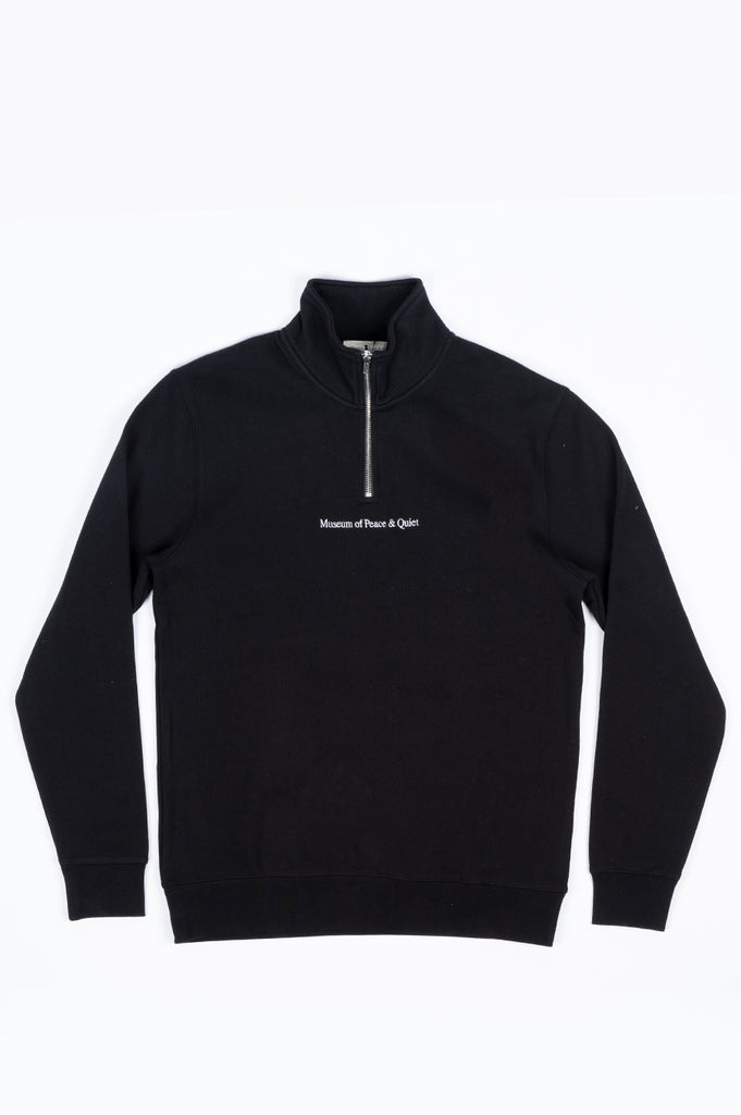 THE MUSEUM OF PEACE AND QUIET QUARTER ZIP BLACK