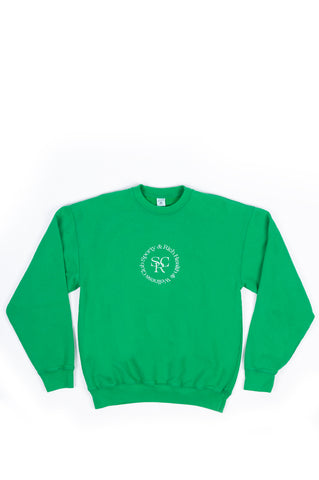SPORTY AND RICH SRWC CREWNECK JOLLY GREEN