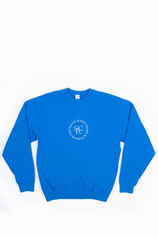 SPORTY AND RICH SRHWC CREWNECK PRIMARY BLUE