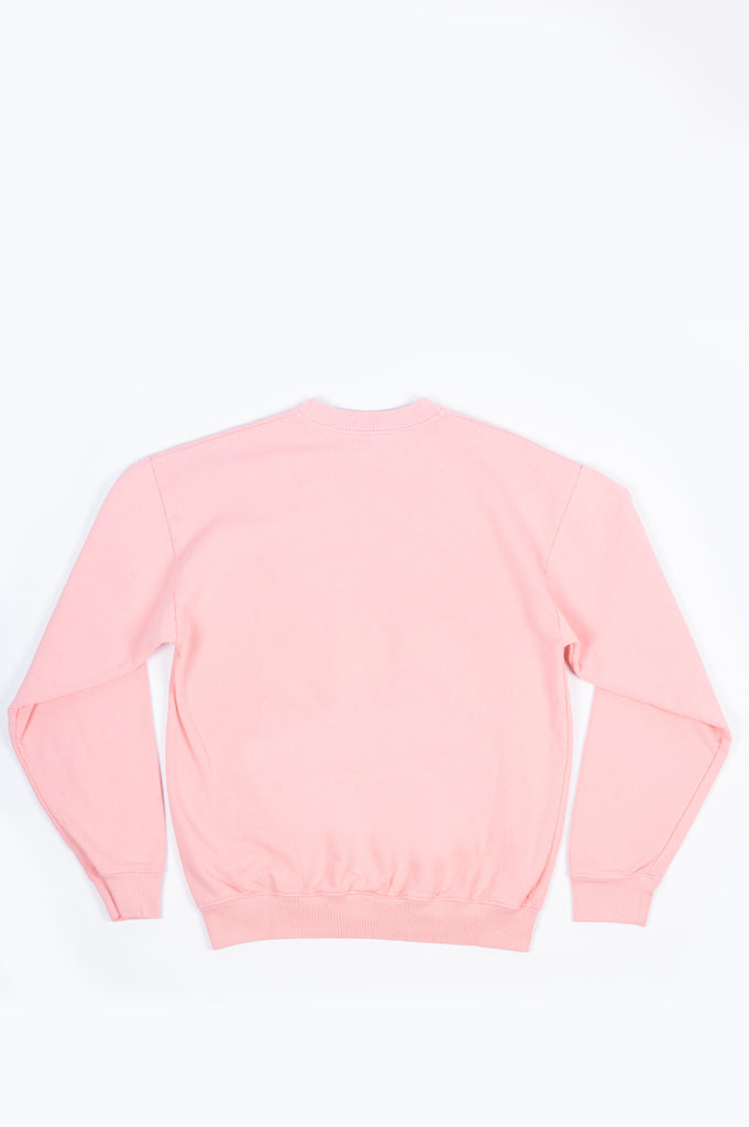 SPORTY AND RICH CLASSIC LOGO CREWNECK PINK