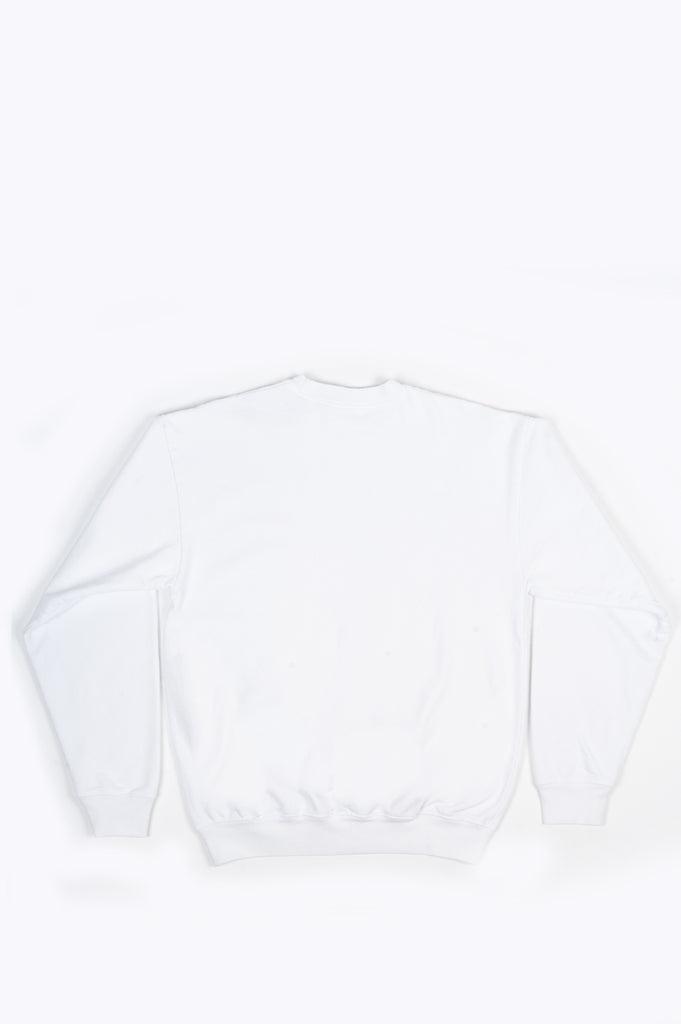 SPORTY AND RICH CLASSIC LOGO CREWNECK WHITE