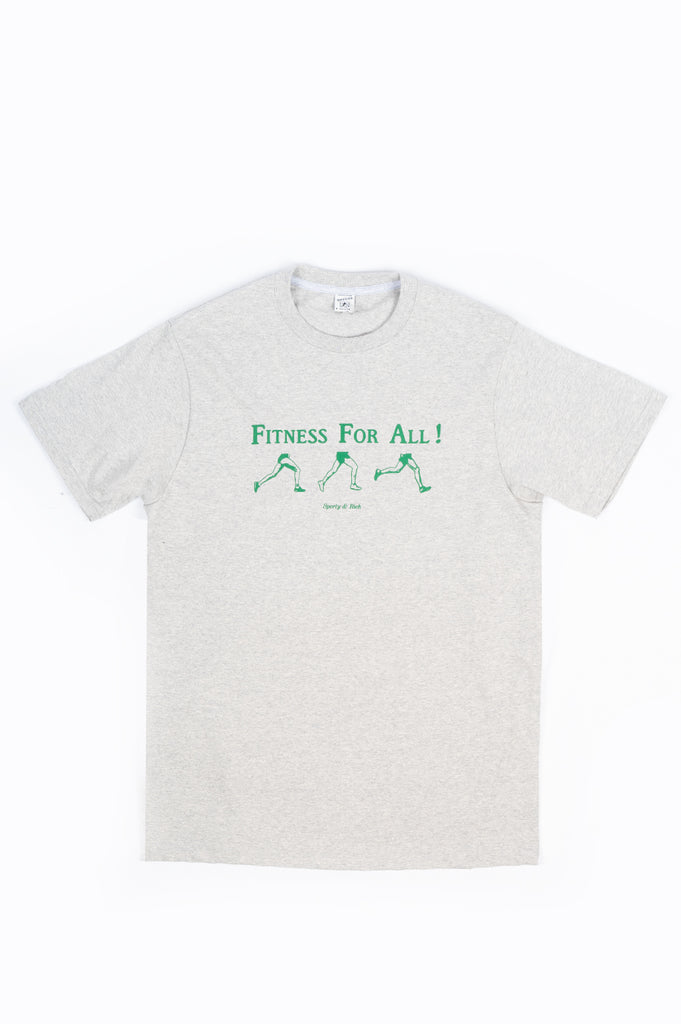 SPORTY AND RICH FITNESS FOR ALL T-SHIRT HEATHER GRAY