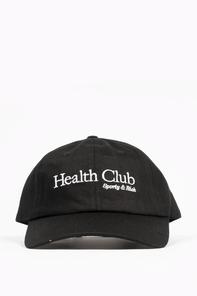SPORTY AND RICH HEALTH CLUB HAT BLACK