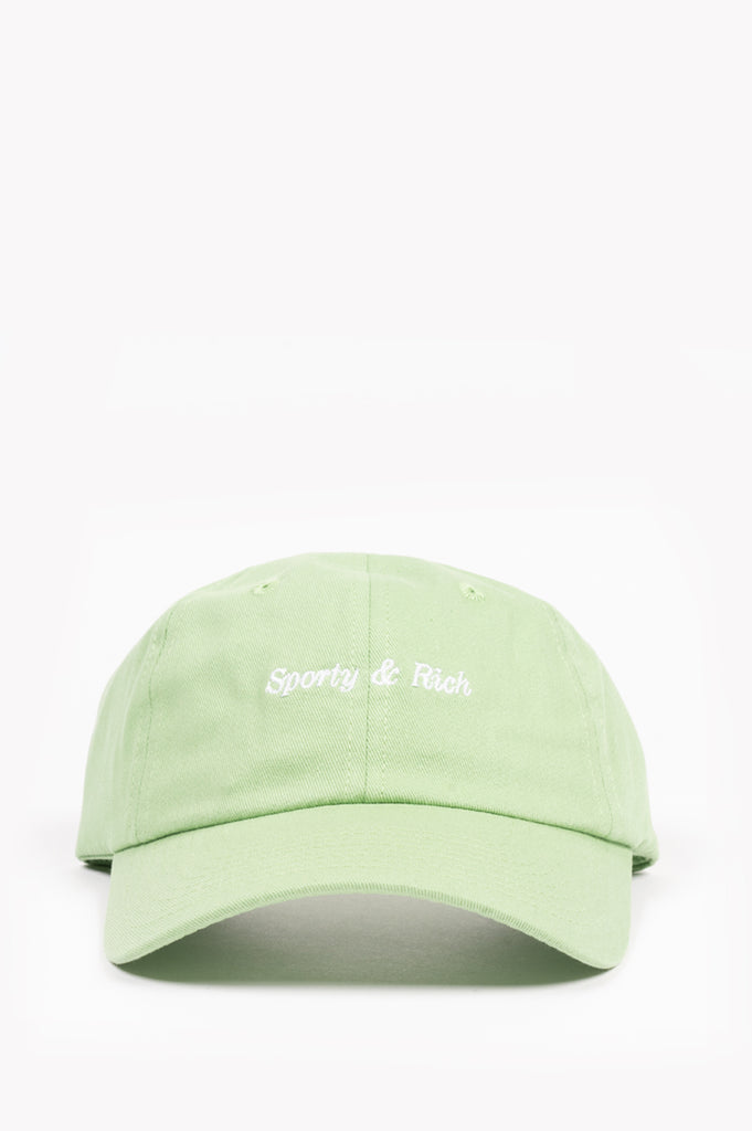 SPORTY AND RICH CLASSIC LOGO HAT PISTACHIO