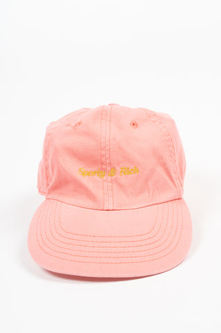 SPORTY AND RICH CLASSIC LOGO HAT PINK