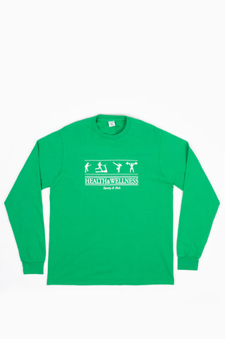 SPORTY AND RICH HEALTH & WELLNESS LONG SLEEVE T-SHIRT JOLLY GREEN