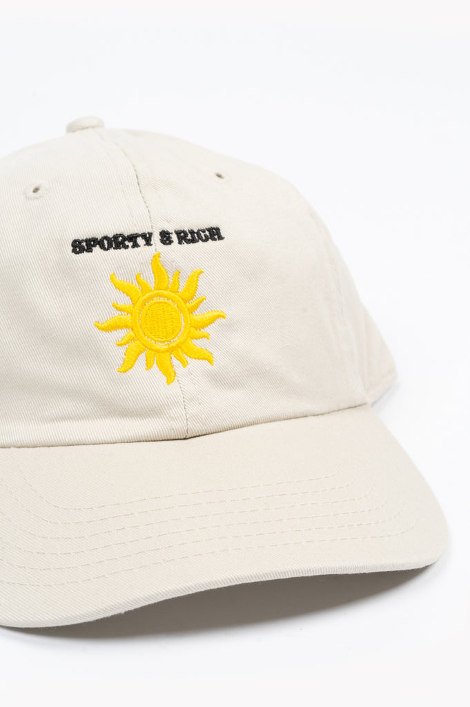 SPORTY AND RICH SUN CLUB HAT CREAM