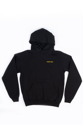 SPORTY AND RICH SUN CLUB HOODIE BLACK