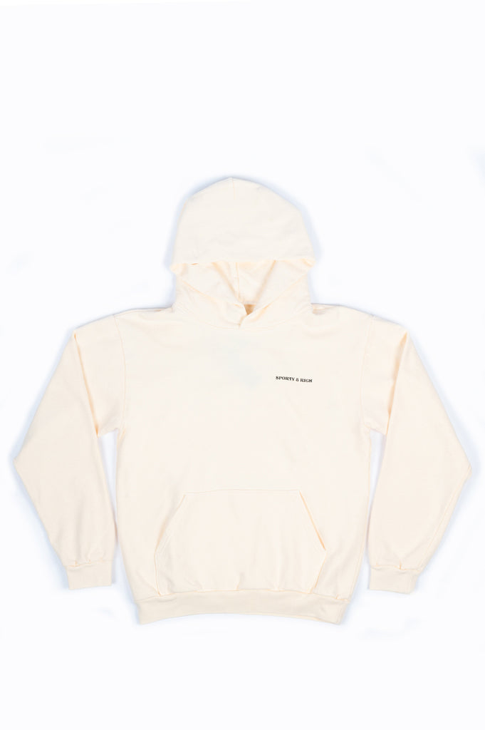 SPORTY AND RICH SUN CLUB HOODIE CREAM