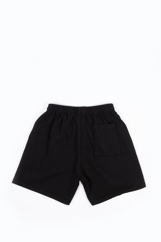 SPORTY AND RICH SUN CLUB SHORTS BLACK