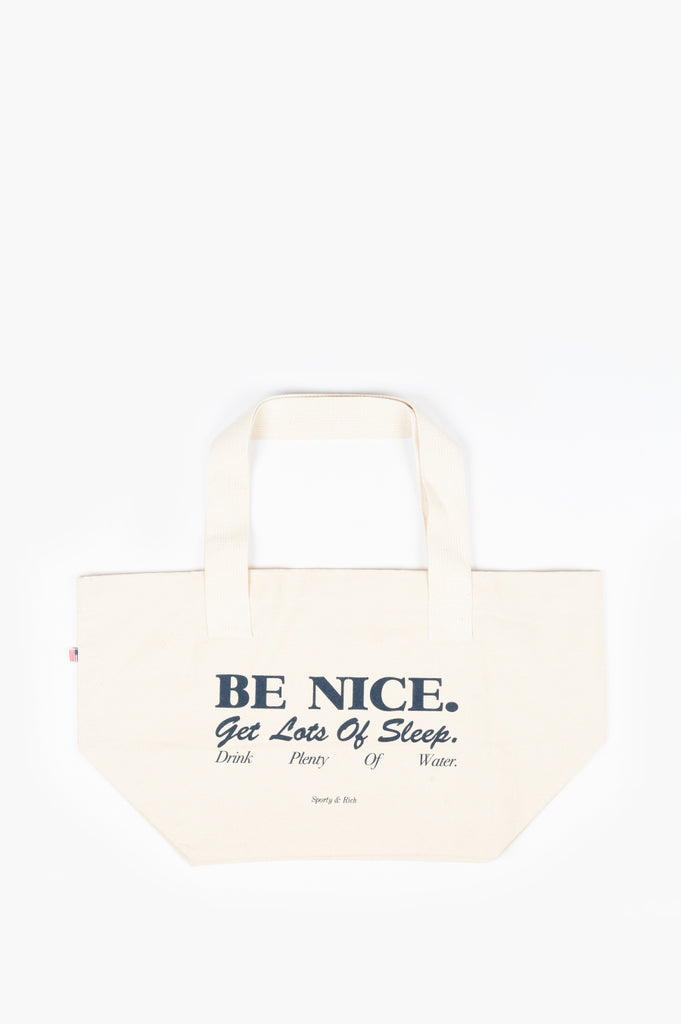 SPORTY AND RICH EXERCISE BE NICE TOTE NATURAL