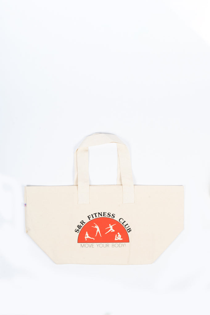 SPORTY AND RICH FITNESS CLUB TOTE NATURAL