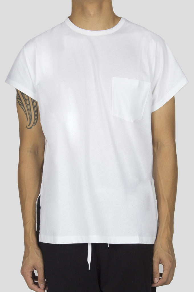 SECOND LAYER CAP SLEEVE BOX T-SHIRT WHITE - BLENDS
