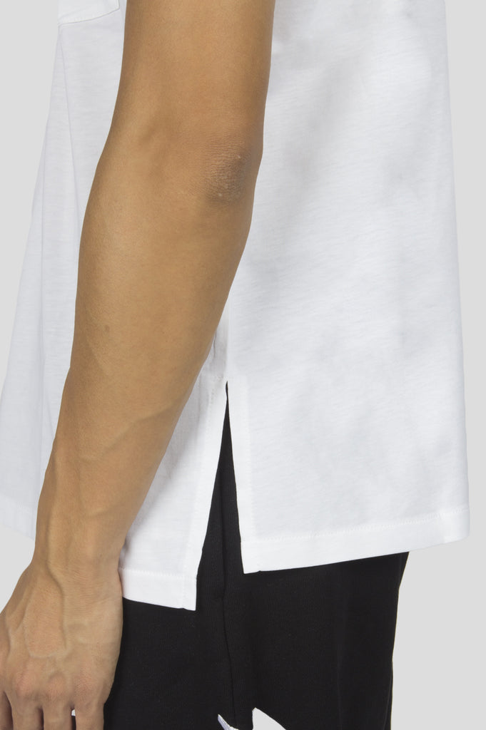 SECOND LAYER CAP SLEEVE BOX T-SHIRT WHITE