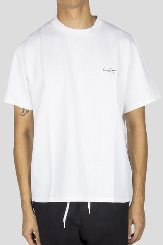 SECOND LAYER STRUCTURED JERSEY CROPPED T-SHIRT WHITE