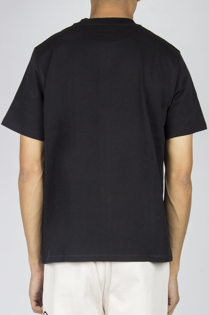 SECOND LAYER STRUCTURED JERSEY CROPPED T-SHIRT BLACK