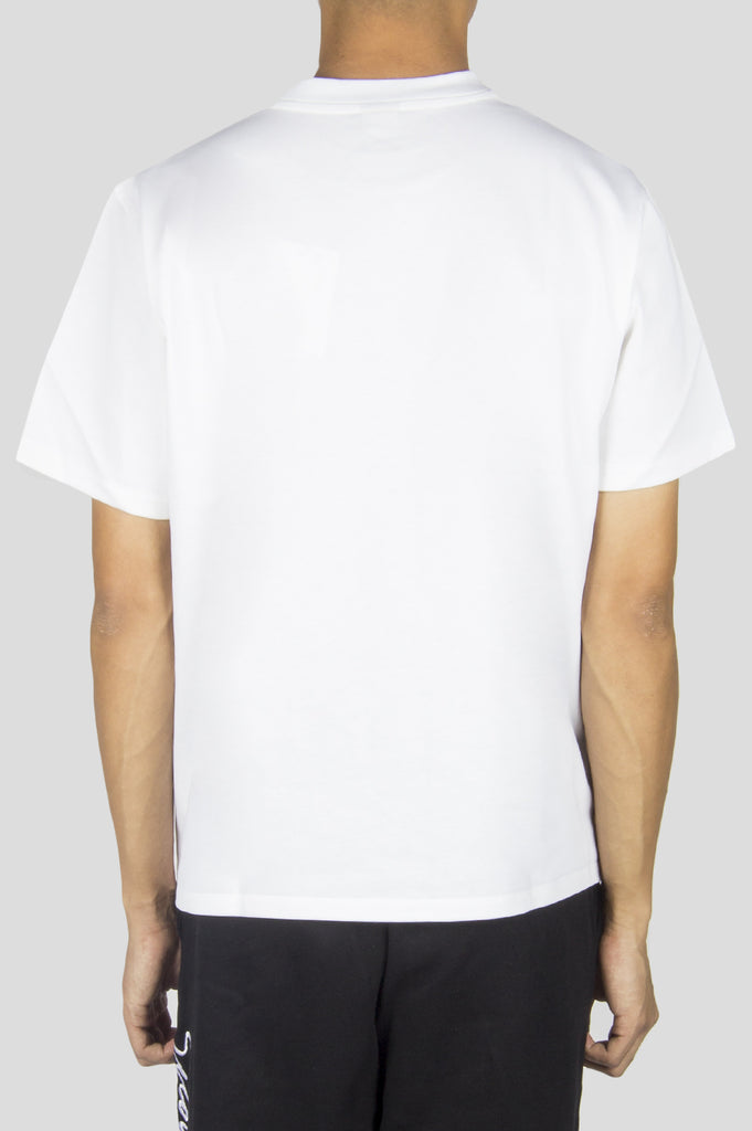 SECOND LAYER STRUCTURED JERSEY CROPPED T-SHIRT WHITE - BLENDS