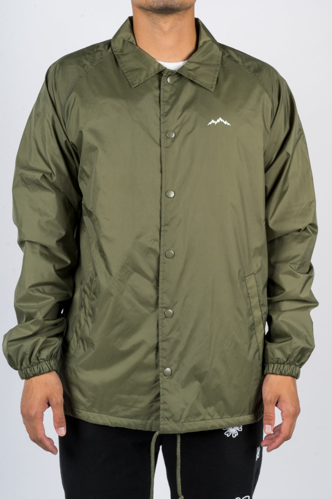 AFIELD OUT LANDSCAPE COACH JACKET ARMY GREEN - BLENDS