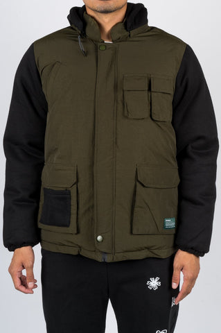 AFIELD OUT RESOURCE JACKET BLACK GREEN - BLENDS