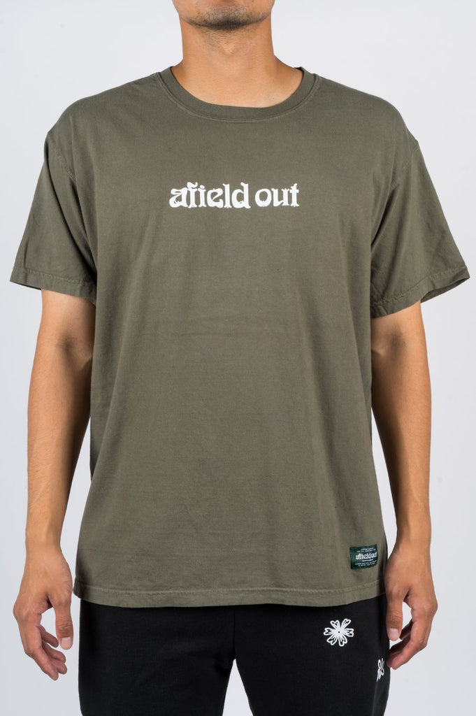 AFIELD OUT LOGO TSHIRT SAGE - BLENDS
