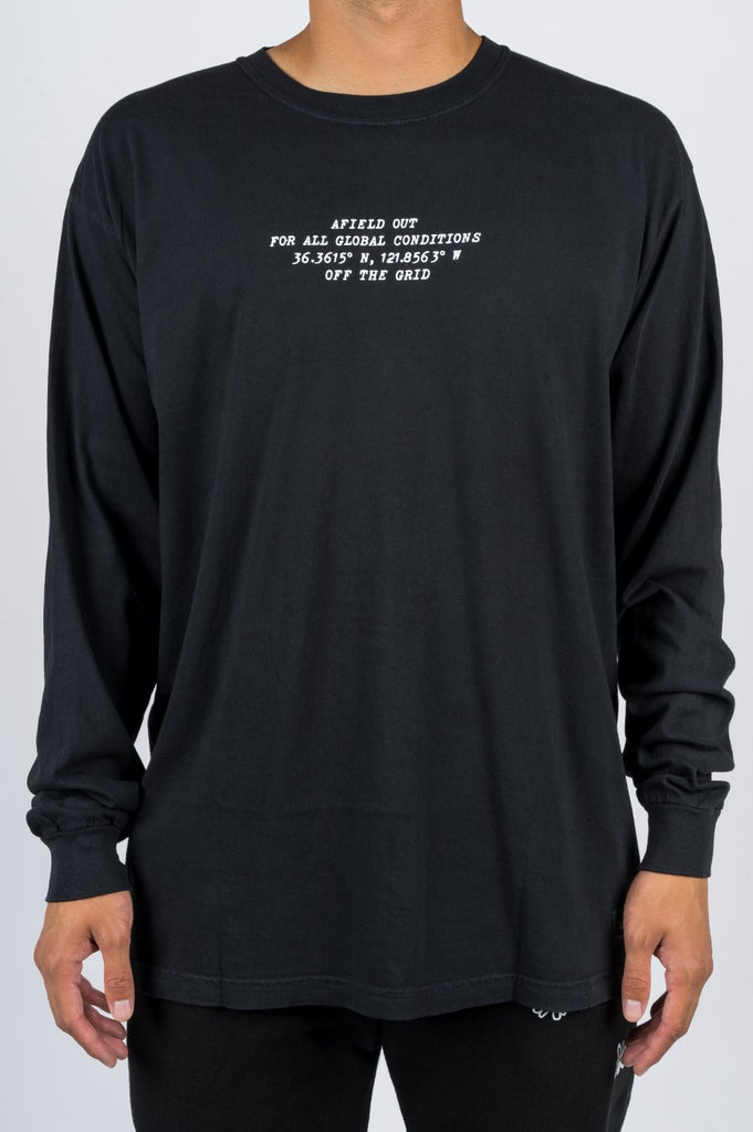 AFIELD OUT OFF THE GRID LS TSHIRT BLACK - BLENDS