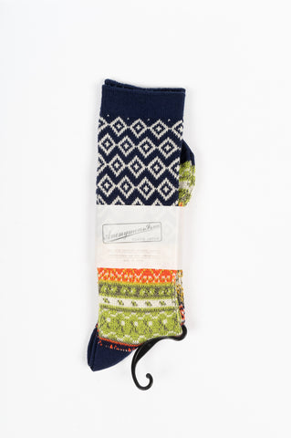 ANONYMOUS ISM FAIRISLE JACQUARD CREW SOCK