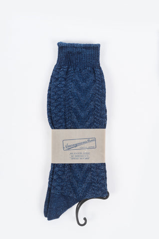 ANONYMOUS ISM JAQUARD CREW SOCK - BLENDS