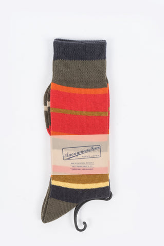 ANONYMOUS ISM STRIPE CREW SOCKS - BLENDS