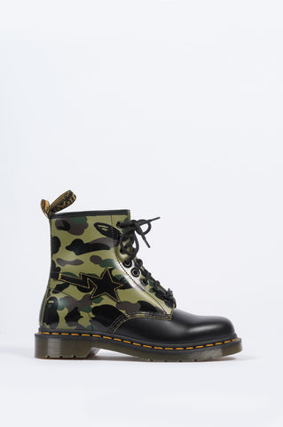 DR MARTENS X BAPE 1460 ZIP CAMO BLACK - BLENDS